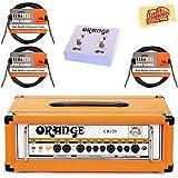 Orange CR120H Crush Pro 120 Guitar Amplifier Head Bundle with Orange FS-2 Footswitch, Instrument Cables, and Austin Bazaar Po