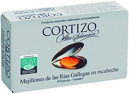 CORTIZO - (CAJA 24 LATAS) Conserva de mejillones de las Rías ...