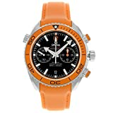 Omega Planet Ocean Chrono Orange Rubber Strap Mens Watch 23232465101001