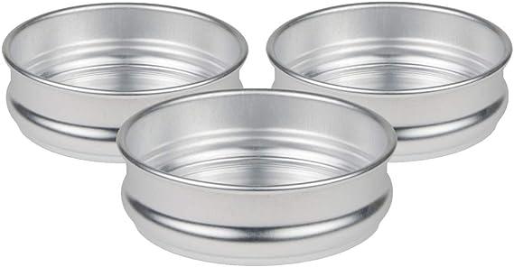Propack Aluminum Disposable Pots With Lids Medium 4 Quarts Pack of 8 Disposable Aluminum pots