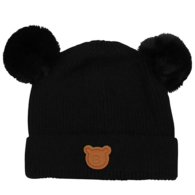 b4eeac61d82 Gogokids Baby Boys Girls Bobble Beanie Hat Warm Winter Pompom Skull ...