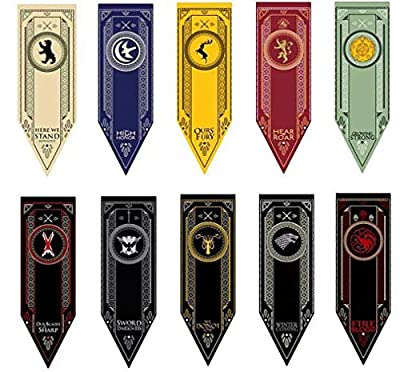 ALLEY55 Game of Thrones GOT House Sigil Tournament Banner Flag Poster Wall Decals 61x17 (45cmx150) Different Sets