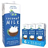 Vita Coco Coconut Milk, Unsweetened Original – Plant Based, Dairy Free Milk Alternative – Gluten Free, Soy Free, and So Delicious – Perfect for Cereal, Coffee, Smoothies – 33.8 Ounce (Pack of 6)