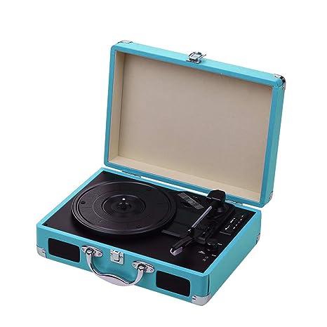 Muslady Tocadiscos Portátil Classic Suitcase Style 3 Velocidades ...
