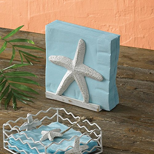 Ceramic Nautical Table - Tropical Nautical Starfish Lunch Napkin Holder