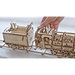 UGears Locomotive with Tender 3D Wooden Model Self Assembling Best Adult and Teens Gift 8