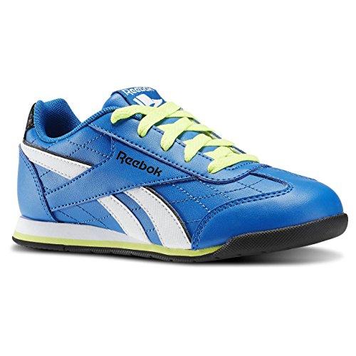Reebok Royal Attack - Zapatillas de running, Niños Azul / Amarillo / Blanco / Negro (Blue Sport/Solar Yellow/Wht/Blck)