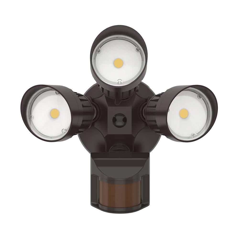 JJC LED Security Lights Motion Sensor Flood Light Outdoor,30W 250W Equiv. 3000LM,IP65 Waterproof,5000K-Daylight White DLC ETL Listed Outdoor Lighting for Garage Yard Garden Porch
