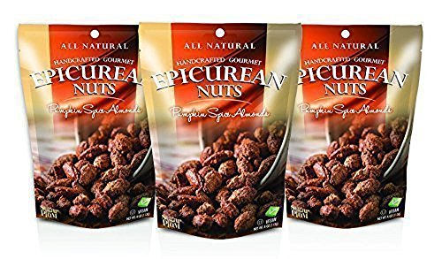 Epicurean Gourmet Nuts Gift Set, Pumpkin Spice Almonds 3-pack, Perfect as a Thank You Gift or for Any Occasion, Small-Batch Kettle Roasted for Superior Freshness, Nuts Never Tasted This Good (Pumpkin Gift)
