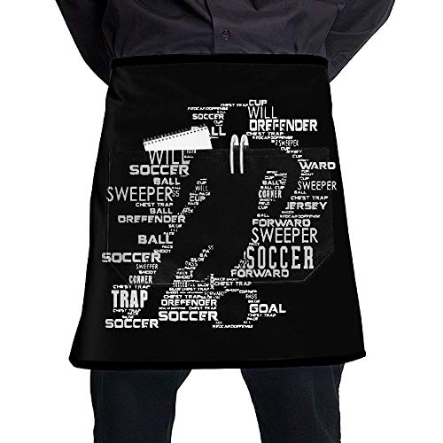 QDKDHBBG I Love Soccer Oil-proof Cooking Chef Kitchen Apron