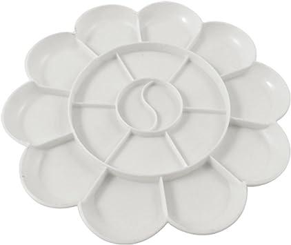 R White 11-well Round Paint Palettes Artist Pallette TOOGOO Paint Palettes