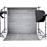 MOHOO 5X7ft Newborn Grey Wood Floor Photography Backdrop Art Fabric Studio Background Photo Props Studio(1.5x2.1m)No Wrinkles