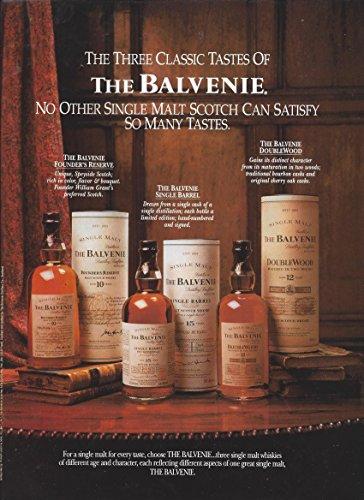 PRINT AD For 1997 The Balvenie Single Malt Scotch: Three Classic Tastes
