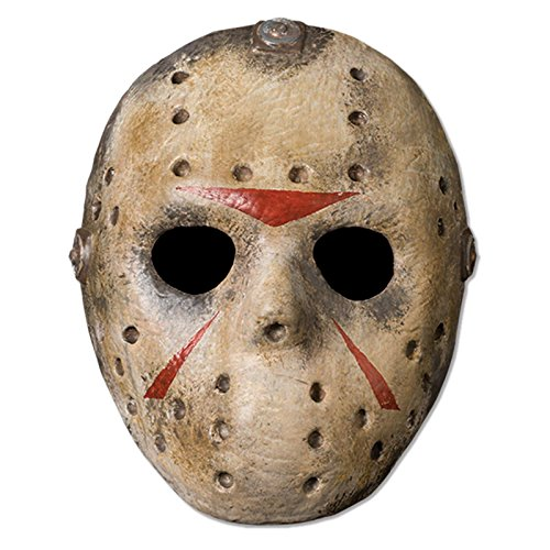 Friday The 13th Jason Voorhees Deluxe Eva Hockey Mask, Gray, One (Jason Vorhees Mask)