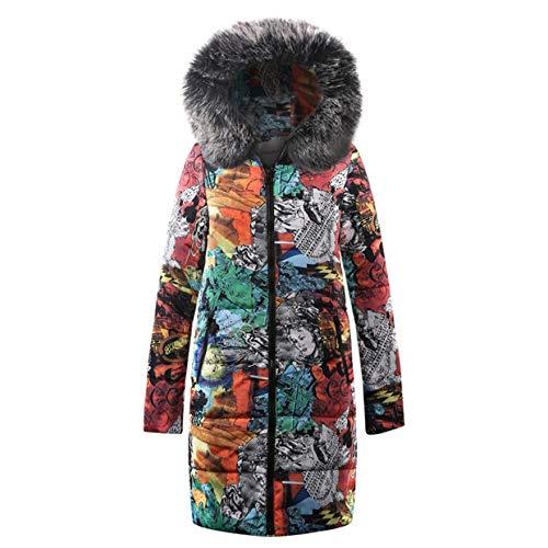 Cappotto casual plus size invernale Pullover moda Cappotto Party Vintage con Cappotto montagna Giacca Giacca da Parka cappuccio Giacche donna elegante Euzeo Nero imbottito ffrTqS