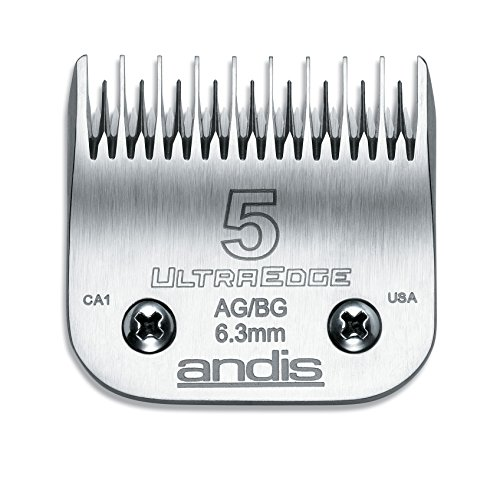 Trimmer 0.25 (Andis Carbon Infused Steel UltraEdge Dog Clipper Blade, Size-5 Skip Tooth, 1/4-Inch Cut Length (64079))