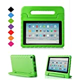 TIRIN All-New Fire HD 10 2017 Tablet Case – Super Light Weight Shock Proof Handle Kid-Proof Cover Kids Case for All-New Fire HD 10.1 Inch Tablet (7th Generation, 2017 Release), Green