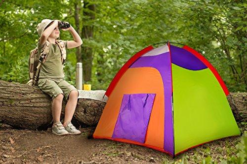 Alvantor Kids Tent Indoor Children Play Toy Toddler Pop up Outdoor Games Colourful Curvy Patent, Red, Orange,Purple,Green, 48'' 48'' 42'' by Alvantor (Image #4)