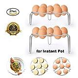 Egg Steamer Rack,Steaming Rack Stand Basket Set,Insert for Instant Pot /Pressure Cooker,Multipurpose,2-Pack