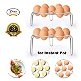 tall steamer rack - Egg Steamer Rack,Steaming Rack Stand Basket Set,Insert for Instant Pot /Pressure Cooker,Multipurpose,2-Pack
