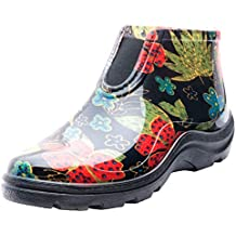 Sloggers Women's Waterproof Rain and Garden Ankle Boots with Comfort Insole, Midsummer Black, Size 6, Style 2841BK06 (Renewed)