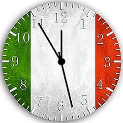Flag of Italy Italian Flag Frameless Borderless Wall Clock W147 Nice for Gift or Room Wall Decor