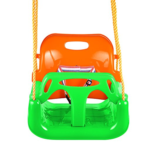 FUNMILY 3-in-1 Detachable Toddlers Swing, Kids Children Hanging Swing Set for Playground