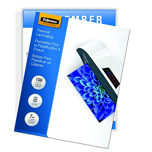 Fellowes Laminating Pouches, Thermal, Letter Size, 7 Mil, 100 Pack (52041)