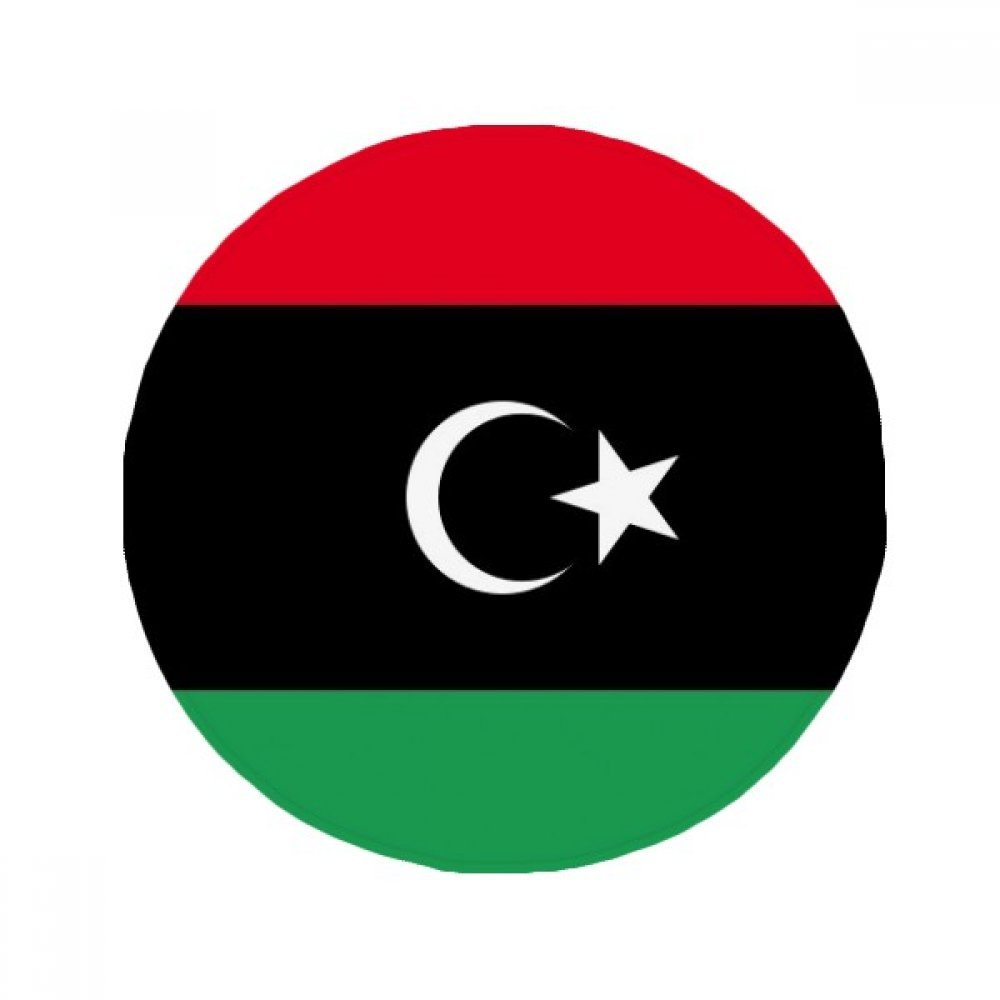 60X60cm DIYthinker Libya National Flag Africa Country Anti-Slip Floor Pet Mat Round Bathroom Living Room Kitchen Door 60 50Cm Gift