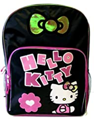 Hello Kitty Backpack - Black & Hot Pink
