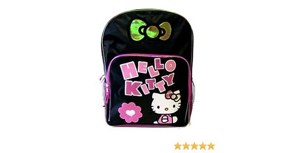 04606aa7e948 Amazon.com  Hello Kitty Backpack - Black   Hot Pink  Toys   Games