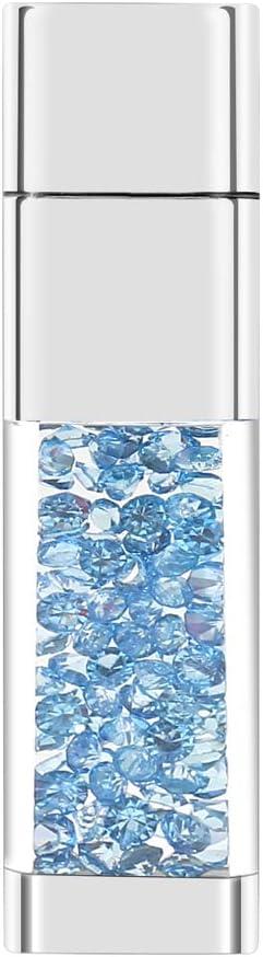 Lovely Diamond USB 2.0 Flash Drive Data Storage Memory Stick USB Stick Pendrive Gift 64GB, Pink