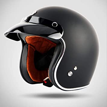 Lin Yo Motorrad Harley Helm Jet Helm Roller Retro Mofa Scooter Helm Mit Integriertem Sonnenvisier Ece Zertifiziert Für Herren Damen Pedallokomotive Cruiser Roller Chopper Pilot Küche Haushalt