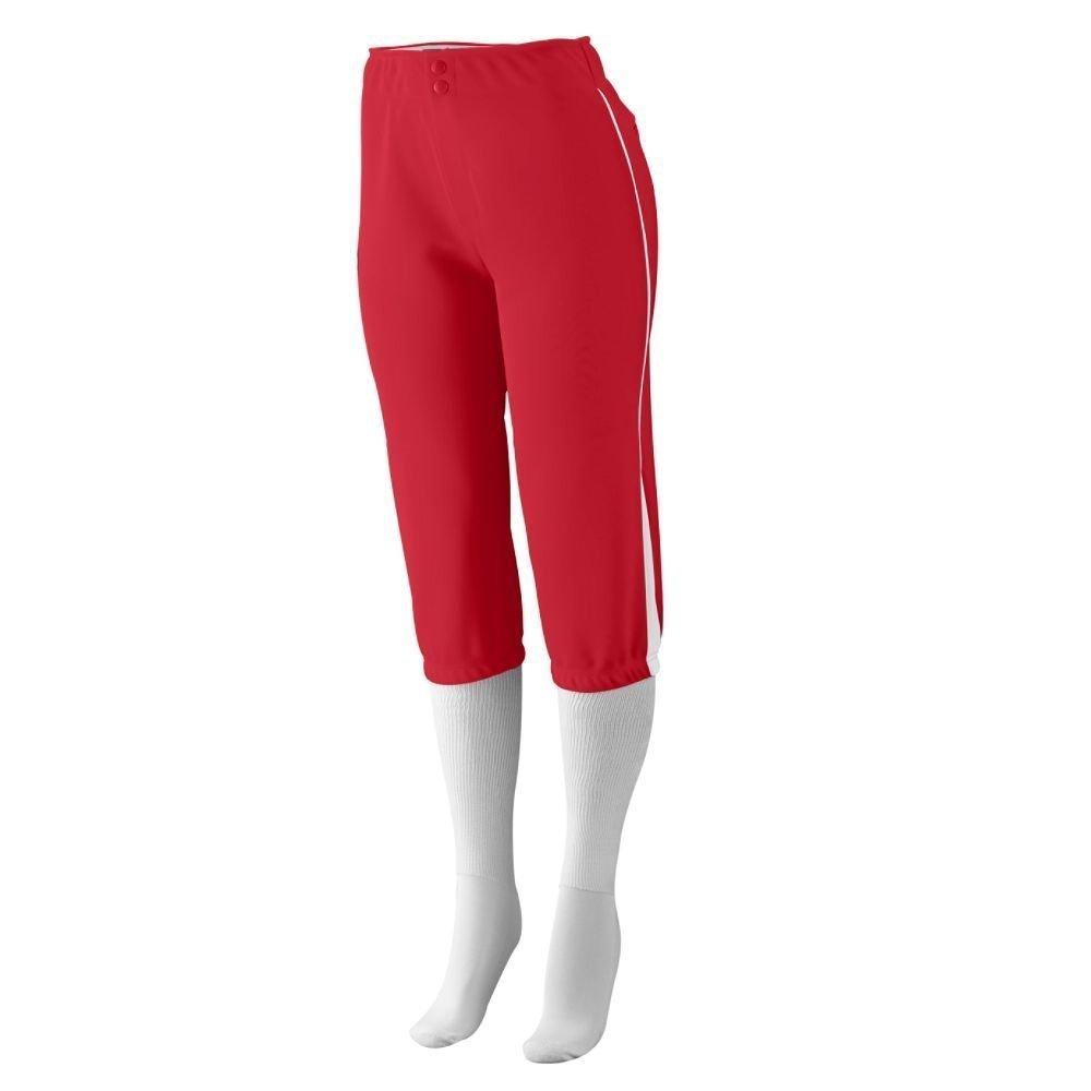 Augusta SportswearレディースドライブLow Riseソフトボールパンツ B00GK5TOE2 Small レッド/ホワイト レッド/ホワイト Small
