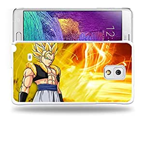 Case88 Designs Dragon Ball Z GT AF Super Saiyan Gotenks Protective Snap-on Hard Back Case Cover for Samsung Galaxy Note 4 by Maris's Diary