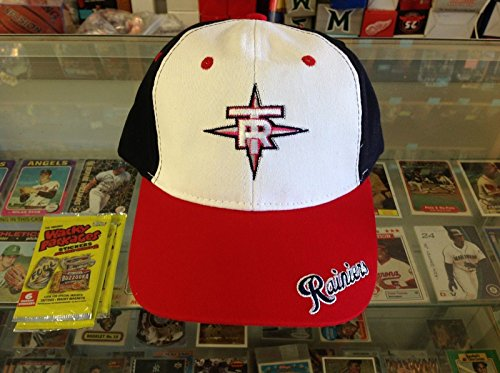 Tacoma Rainiers BEAUTIFUL RED White BLUE Baseball Cap Pacific Coast Minor League Baseball Hat GREAT for SIGNATURES