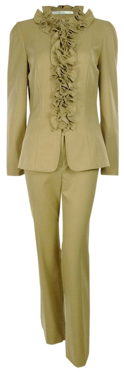 Tahari Women's Harrison Pure Polish Pant Suit (14, Camel)