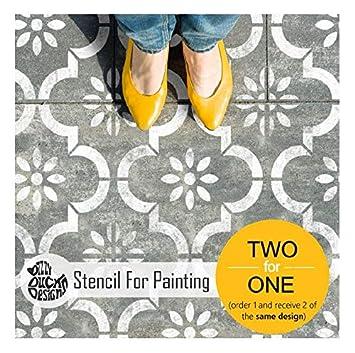 JANNAH AZULEJO Mobiliario Muro Piso Plantilla para pintar 20 cm repetir