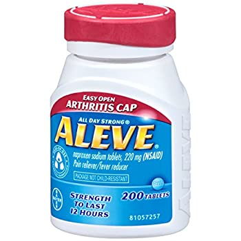 Aleve Tablets With Easy Open Arthritis Cap, Naproxen Sodium, 220mg (Nsaid) Pain Relieverfever Reducer, 200 Count (Pack Of 2) 3