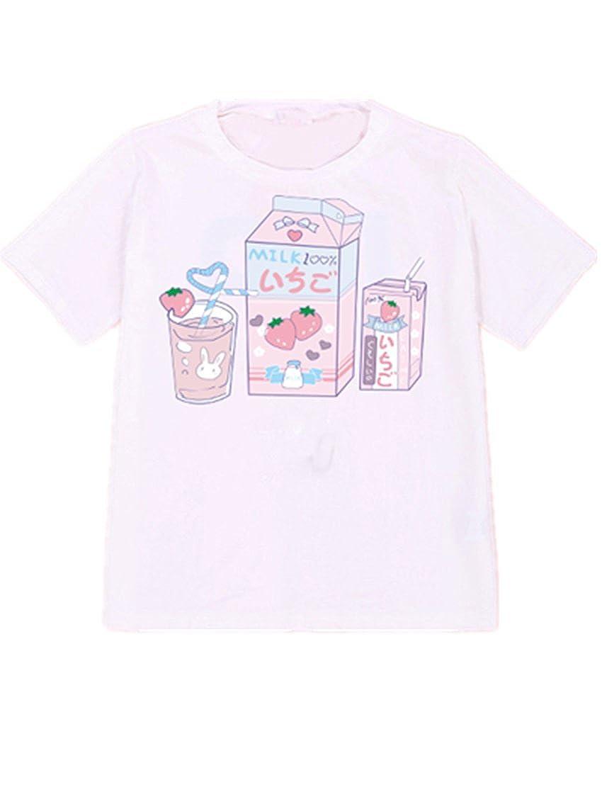 Women Tank Top Kawaii Comic T-Shirt Girls Summer H9494613