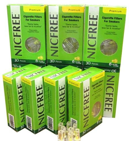 Nicfree Cigarette Filters For Smokers - 10 Packs by Nicfree