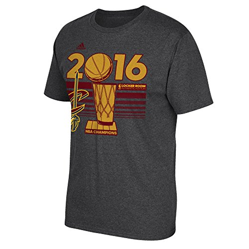 NBA Cleveland Cavaliers Men's 2016 Finals Champions Locker Room T-Shirt, Gray, Medium