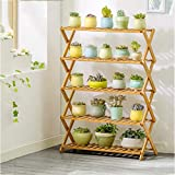 JZX Solid Wood Folding Plant Stand Multifunctional Pot Rack