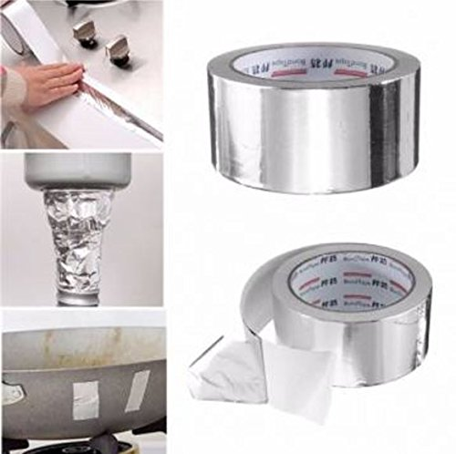 50mm x 25M Silver Aluminium Foil Tape Heat Reflection Self Adhesive Sealing Roll Tape by Advanced