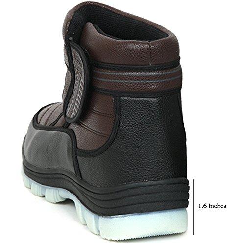 Nieuw Zwart Bruin Dames Winter Comfort Velcro Enkellaarzen Sneeuw Warme Schoenen Bruin