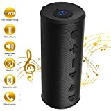 Bluetooth Portable Wireless Speaker with TWS Function 20W Big Migicbox Stereo Speaker with Bass Loud Volume 90dB Built-in Mic 12Hour Playtime for Cell Phone Home Outdoor Party Travel (Black)