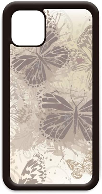Amazon Com Elegant Vintage Grey Butterfly Wallpaper For Iphone 11 Pro Max Cover For Apple Mobile Case Shell