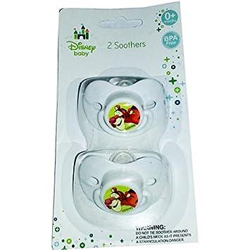 Disney bebé Tigger chupetes chupetes 0 + (color blanco ...