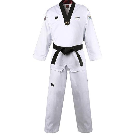 Mooto Corea Taekwondo BS4.5 Kukkiwon Uniforme Cuello de Pico Negro ...
