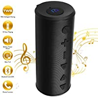 TWS Bluetooth Speaker, Portable Wireless Speaker with...